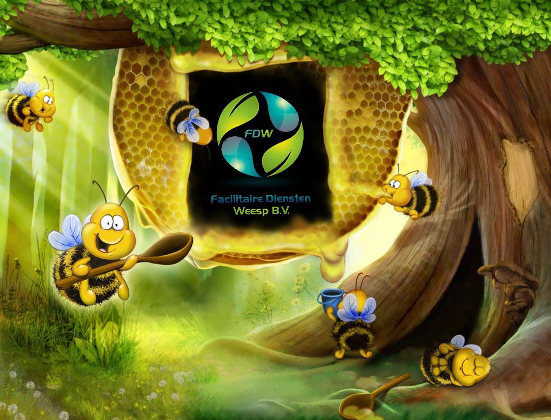 Als bijen om de honing